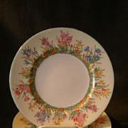 "Josiah Wedgwood & Sons ""Prairie Flowers"" Pattern Luncheon Plates - Set of 4"