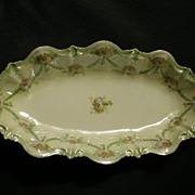 SALE R.S. Prussia Celery/Relish Tray with Floral Decor