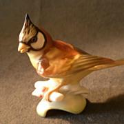"Hutschenreuther Porcelain ""Tufted Titmouse"" Figurine - K Tutter"