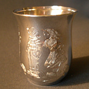 "SOLD German ""835"" Silver ""Hansel & Gretel Characters"" Child's Tumbler"