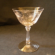 "Set of 5 - Fostoria ""Lido"" Pattern Champagne/Tall Sherbets"