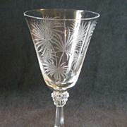 "Set of 4 - Fostoria ""Lido"" Pattern Claret Wine"