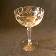 """Set of 6 - Fostoria """"Holly"""" Pattern Champagne/Tall Sherbets"""