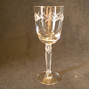"Set of 4 - Fostoria ""Holly"" Pattern Claret Wines"