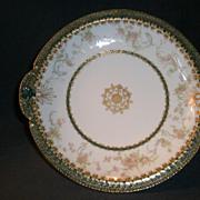 "Haviland & Co. Limoges ""Delicate Pink Floral"" Decorated Shallow Serving Bowl"