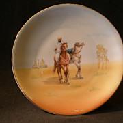 "Royal Bayreuth Scenic ""Arabian Desert"" Cabinet Plate"