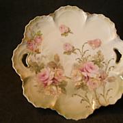 "SOLD Wheelock ""Prussia"" Transfer Design Plate w/Rose Floral Motif"