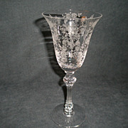 """SOLD Set of 6 - Tiffin """"Cherokee Rose"""" Pattern Water Goblets"""