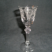 "Set of 10 - Tiffin ""June Night"" Pattern Wine Glasses"
