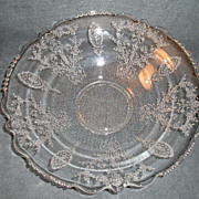 "Tiffin ""June Night"" Pattern Round Flared Serving Bowl"