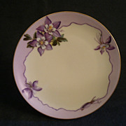Caine's Studio Hand-Painted Cabinet Plate w/Mountain Columbine Motif