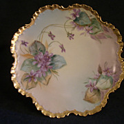 SOLD Rosenthal Porcelain Hand-Painted Cabinet Plate w/Violet Blossom Motif