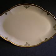 """""""Shamrock Pattern"""" Hand Painted Porcelain Oval Serving Platter"""