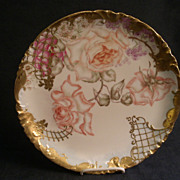 Charles Haviland & Co., Hand Painted Charger Plate w/Roses & Various Floral Motif