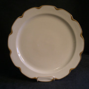 "Charles Haviland & Co. Limoges ""Silver Anniversary"" Large Round Chop Plate- Schleige"