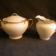 "Charles Haviland & Co. Limoges ""Silver Anniversary"" Sugar Bowl & Cream Pitcher Set -"