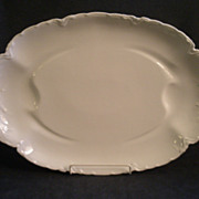 "Charles Haviland & Co. Limoges ""Ranson/White"" Large Oval Serving Platter"