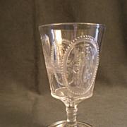 EAPG - Pair of Cupid & Venus (Guardian Angel) Water Goblets