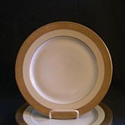Set of 4 - T & V Limoges Gold Encrusted Dinner Plates