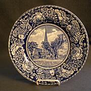 "British Anchor Pottery ""The Elm At Cambridge Mass"" Souvenir Plate"