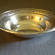 SOLD Dominick & Haff Sterling Silver Repousse Pattern Sauce or Nut Bowl