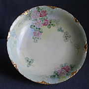 Rosenthal Porcelain Hand Painted Bowl w/Wild Clover Blossom Motif