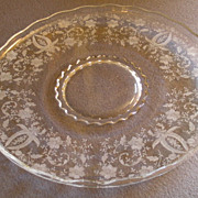 "New Martinsville or Viking Glass Company ""Prelude"" Pattern Torte/Sandwich Plate"