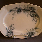 "Johnson Bros Blue Transfer ""Paris"" Pattern Small Platter"