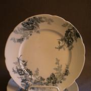 "Set of 4 Johnson Bros Blue Transfer ""Paris"" Pattern Luncheon Plates"