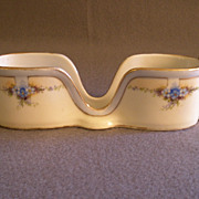 Vintage Noritake Hand Painted Spoon Holder w/Forget-Me-Not Motif
