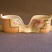 Vintage Noritake Hand Painted Spoon Holder w/Azalea Floral Motif