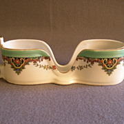 Vintage Noritake Hand Painted Spoon Holder w/Floral Paisley  Motif