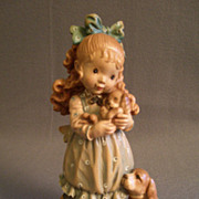 """Anri of Italy """"Our Puppy""""Limited Carving 50/2000 by Sarah Kay"""