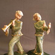 Hedi Schoop Pottery Asian Musician & Dancer Figurines