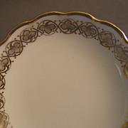 Set of 6 Charles Haviland & Co. Limoges Butter Pats w/Gold Vine Motif