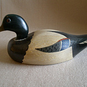 "SOLD Illinois Hand Carved & Painted ""Mallard Drake"" Decoy - Charles Moore"