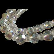 """Laguna"" Double-Strand Cut Crystal Bead Wedding-Style Necklace"