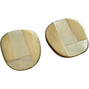 "SALE ""Celia Sebiri"" Vintage Mother-of-Pearl & Faux Ivory/Bone Inlay Clip-Style E"