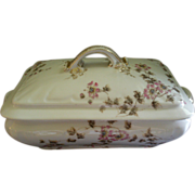 SOLD CFH/GDM Limoges Rectangular Covered Vegetable Tureen w/Passion Flower Blossoms & Vines Mo