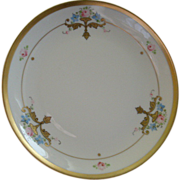 "Pickard Studio Hand Painted Cabinet Plate ""Russian Flowers"" Series Floral Motif"