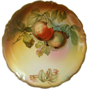 "Jaeger & Co. Porcelain ""Fruit Motif' Cabinet Plate Unsigned ""A Koch"""
