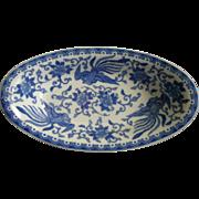 Noritake Blue & White Porcelain 'Howo' Pattern Relish Dish