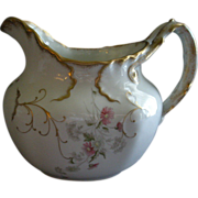 Syracuse Imperial Geddo Milk/Water Pitcher w/Transfer Daisy Floral Motif