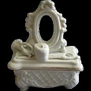 Victorian Fairings Ring Box w/Bugle, Hat & Riding Crop Figural Lid