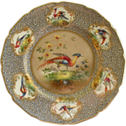 Royal Doulton H.P. 'Birds of Paradise' Cabinet Plate (2 of 6) Signed 'E Percy'