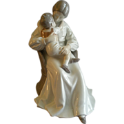 "Bing & Grondahl Porcelain ""Mother Love"" Sculpture by Ingebirg Irminger #1552"