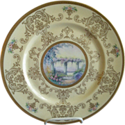 Pickard Studio Hand Painted 'Scenic' Charger w/Gold Decoration - Signed Challinor, Plate 1 of