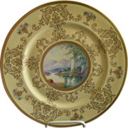 Pickard Studio Hand Painted 'Scenic' Charger w/Gold Decoration - Signed Challinor, Plate 2 of
