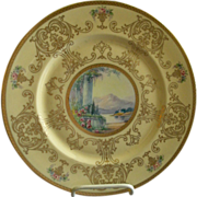 Pickard Studio Hand Painted 'Scenic' Charger w/Gold Decoration - Signed Challinor, Plate 3 of
