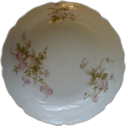 PH Leonard, Vienna, Austria, Porcelain Set of 6 Fruit/Sauce Bowls w/Pink & White Rose ...